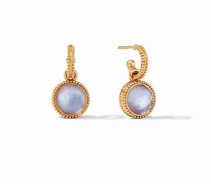 Fleur-de-Lis Hoop & Charm Reversible Earring