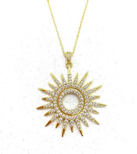 Gold Sunburst Pendant
