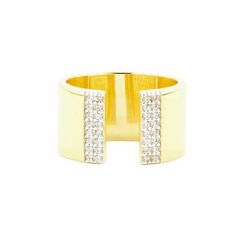 Freida Rothman Radiance Open Cuff Ring