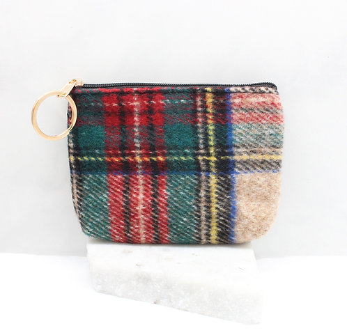Pretty Plaid Coin Purse