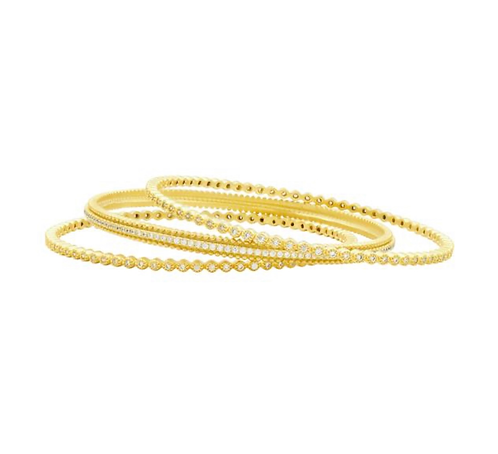 Freida Rothman Harmony 3 Stack Bangle