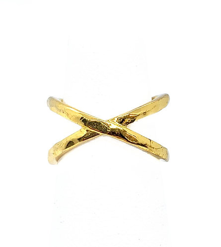 Criss Cross Gold Ring