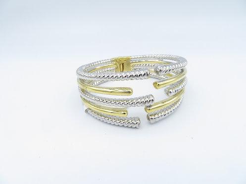 Two Tone Open Bracelet