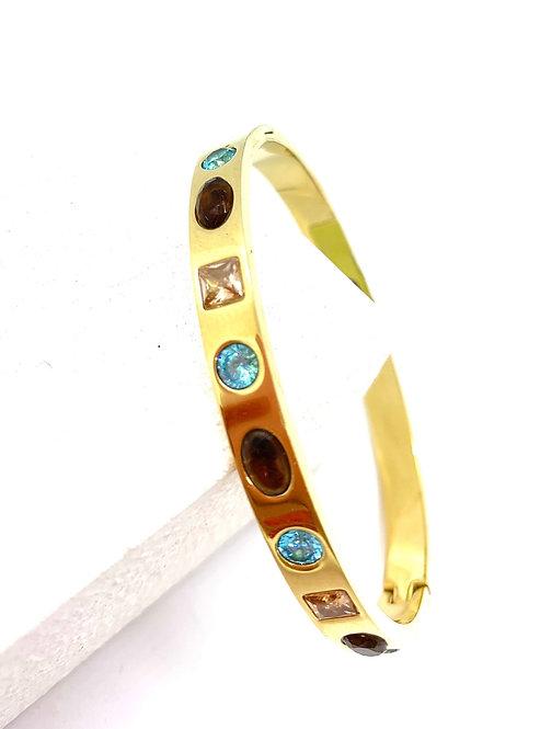 Jewel Tone Cz Bracelet