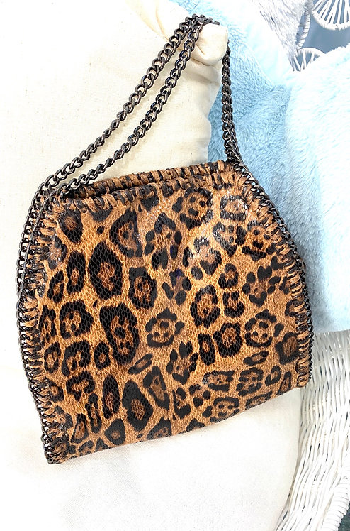 Leopard Chain Handbag