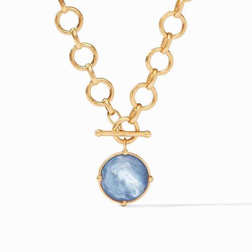 Honeybee Statement Necklace Chalcedony Blue