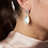 Thumbnail: Freida Rothman Fleur Bloom Mother of Pearl Teardrop Earrings