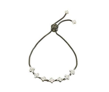 Freida Rothman Signature Clover Strand Adjustable Bracelet