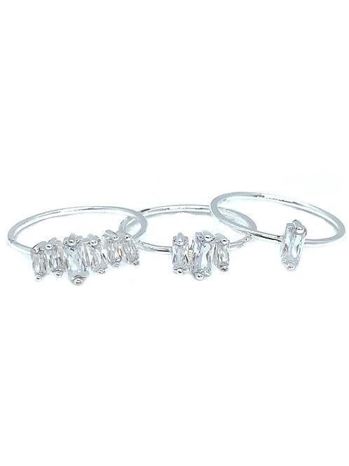 Gorjana Amara Ring Set Silver