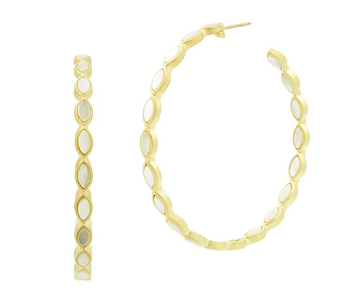 Harmony Bezel Hoop Earrings