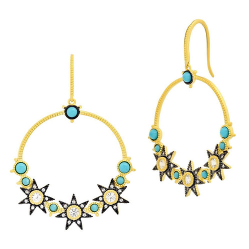 Freida Rothman Constelation Open Drop Earrings