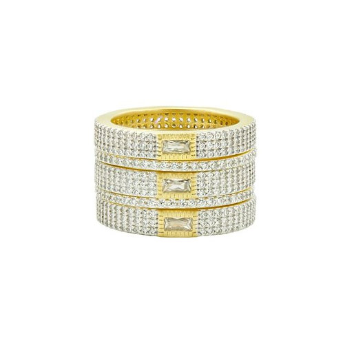 Freida  Rothman Allover Pave 5-stack ring