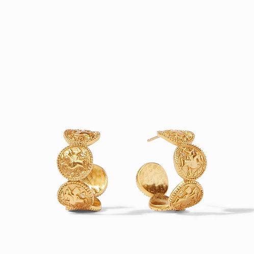 Julie Vos Coin Hoop Gold Earrings