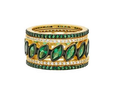 Freida Rothman Midnight 5-Stack Marquise Ring