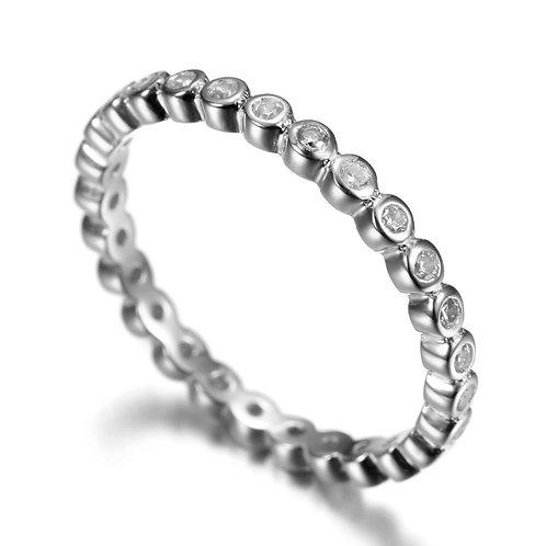 Eternity Band Round Cz Ring