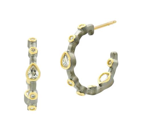 Signature Teardrop Hoop Earrings- Small