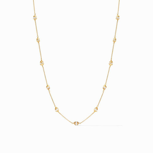 Julie Vos Penelope Delicate Station Necklace Gold Pearl