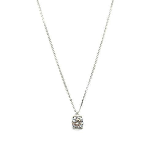 Diamond Studded Sterling Necklace