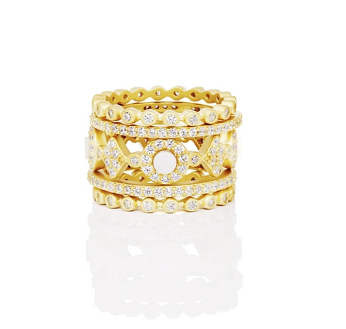 Color Theory Mother of Pearl 5-Stack Ring