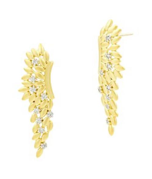 Freida Rothman Fleur Bloom Angel Wing Earrings