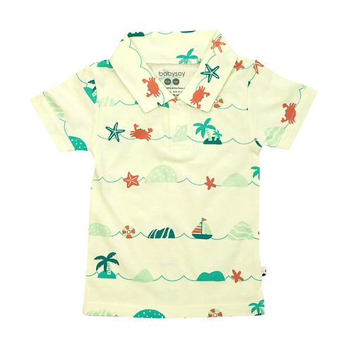 Tropical boys polo shirt