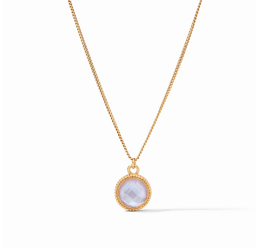 Fleur-de-Lis Solitaire Necklace Reversible