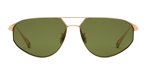 Krewe Dumaine 18K Titanium Polarized Sunglasses