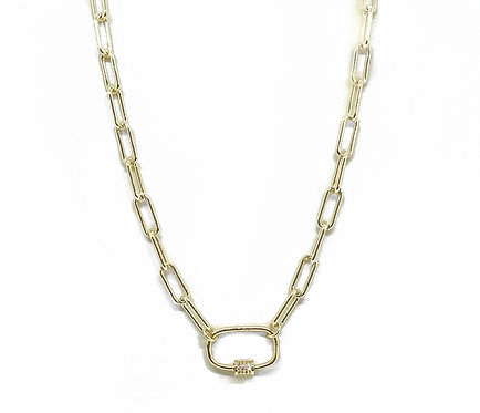 Paperclip Open Necklace