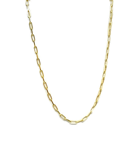 Italian Sterling Paperclip Chains- Small Link 16inch