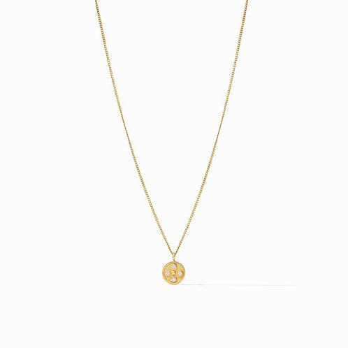 Julie Vos Paris Charm Necklace Gold CZ