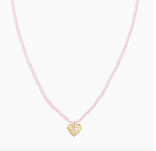 Gorjana Power Gemstone Mantra Necklace for Love