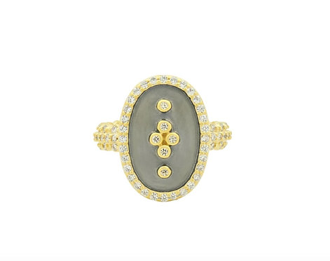 Freida Rothman Statement Clover Shield Cocktail Ring
