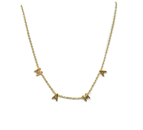 """MAMA"" Necklace Gold"