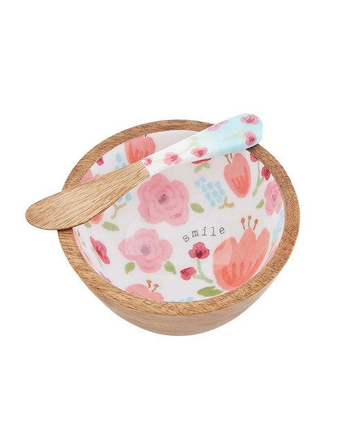 Pink Floral Dip Set