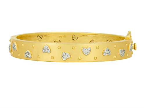 From the Heart Hinge Bangle