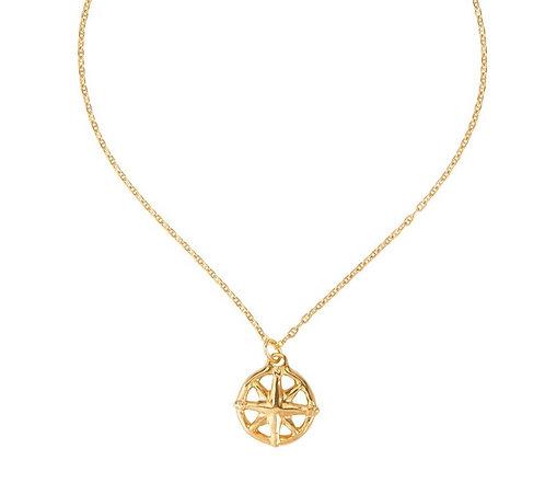 Uno de 50 A Estribor Compass Pendant Necklace