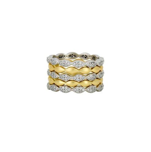Freida Rothman Layers of Armor 5-Stack Ring