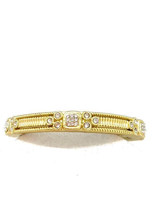 Matte Gold bracelet with Cubic Zirconia