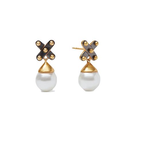Julie Vos SoHo Pearl Drop Earrings