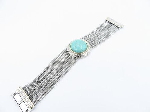 Round Turquoise Slinky Bracelet