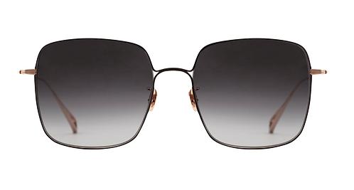 Krewe Eve 18K Rose Gold Black Sunglasses