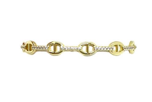 Gold Open Wrist Cuff