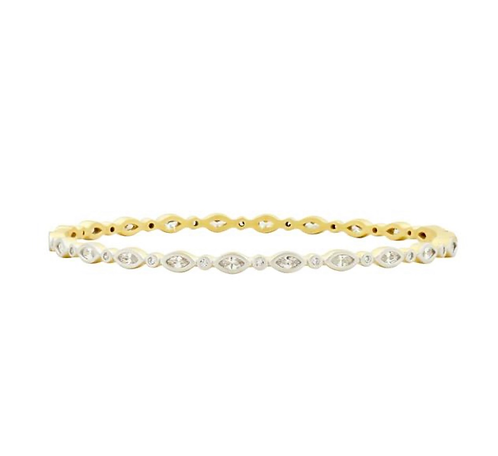 Freida Rothman Fleur Bloom Thin Hinge Bangle