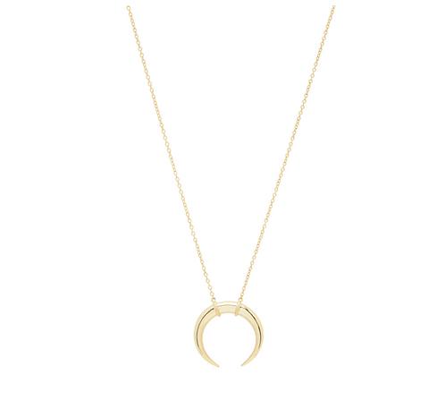 Gorjana Cayne Crescent Pendant Necklace