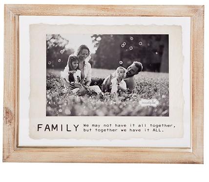 Family Glass Wood Frame 4x6