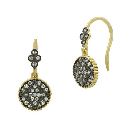 Freida Rothman Signature Pavé Disk Hook Earrings