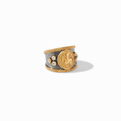 Julie Vos Coin Crest Ring Mixed Metal
