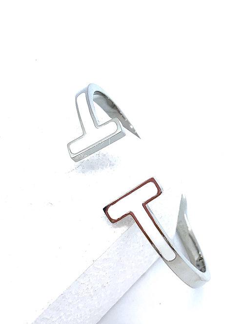 Double T Enamel Bracelet