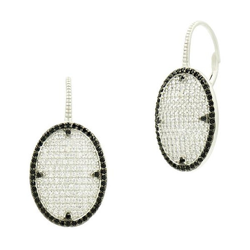 Freida Rothman Industrial Finish Pave Lever Back Earrings