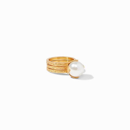 Julie Vos Penelope Set Ring Gold Pearl
